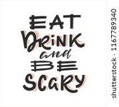vector halloween greeting card  ... | Shutterstock .eps vector #1167789340