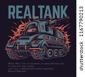 real tank illustration | Shutterstock .eps vector #1167790213