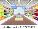 supermarket and products poster ... | Shutterstock .eps vector #1167793309