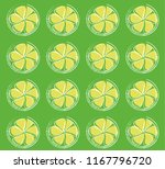 lemon frxesh green pattern... | Shutterstock .eps vector #1167796720
