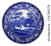 Very Old Dutch Plate Isolated...