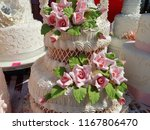 cake  wedding loaf. with... | Shutterstock . vector #1167806470