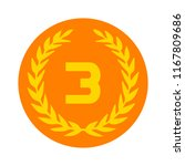 third place award icon. prize... | Shutterstock .eps vector #1167809686