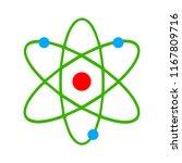 atom icon  atom vector symbol ... | Shutterstock .eps vector #1167809716