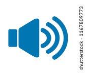 speaker volume icon   audio... | Shutterstock .eps vector #1167809773