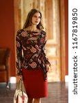 fashion model girl in formal...   Shutterstock . vector #1167819850
