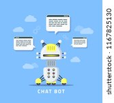 picture of robot icon with... | Shutterstock .eps vector #1167825130