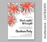 red poinsettia christmas party...   Shutterstock .eps vector #1167832393