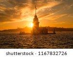 maidens s tower   kiz kulesi... | Shutterstock . vector #1167832726