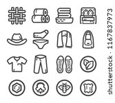 fabric and clothes icon set | Shutterstock .eps vector #1167837973