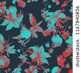 seamless background floral... | Shutterstock .eps vector #1167840856