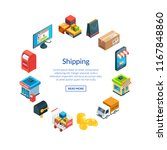 vector isometric shipping and... | Shutterstock .eps vector #1167848860