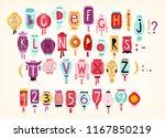 colorful cartoon vector... | Shutterstock .eps vector #1167850219