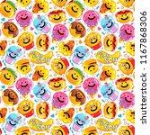 seamless pattern emoji fast... | Shutterstock .eps vector #1167868306