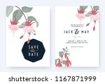 floral wedding invitation card... | Shutterstock .eps vector #1167871999
