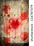 Vintage Art Abstract Love Card...