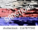 flags of russia is painted on... | Shutterstock . vector #1167877540