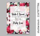 rose wedding invitation  invite ... | Shutterstock .eps vector #1167877786