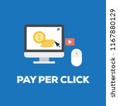 pay per click concept | Shutterstock .eps vector #1167880129
