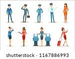 commercial flight board crew... | Shutterstock .eps vector #1167886993