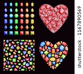 a set of colorful gems.... | Shutterstock .eps vector #1167890569