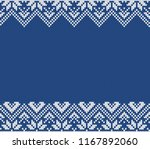 winter sweater fairisle design. ... | Shutterstock .eps vector #1167892060