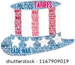 tariffs word cloud on a white...   Shutterstock .eps vector #1167909019