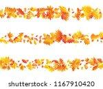 oak  maple  wild ash rowan... | Shutterstock .eps vector #1167910420