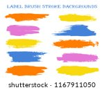 cool label brush stroke... | Shutterstock .eps vector #1167911050