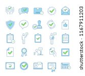 approve color icons set....   Shutterstock .eps vector #1167911203