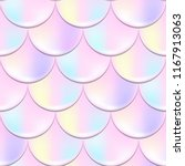 mermaid or fish scale seamless... | Shutterstock .eps vector #1167913063