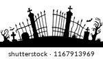 cemetery gate silhouette theme... | Shutterstock .eps vector #1167913969