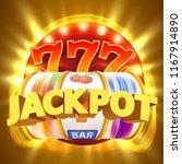 golden slot machine wins the... | Shutterstock .eps vector #1167914890