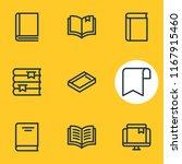 vector illustration of 9 book... | Shutterstock .eps vector #1167915460