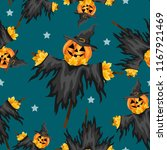 Halloween Seamless Pattern Wit...