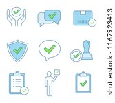 approve color icons set.... | Shutterstock .eps vector #1167923413