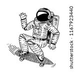 astronaut soaring with... | Shutterstock .eps vector #1167923440