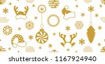 white and golden winter... | Shutterstock .eps vector #1167924940