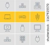 illustration of 12 laptop icons ... | Shutterstock . vector #1167925570