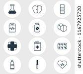 illustration of 12 health icons ... | Shutterstock . vector #1167925720