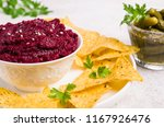 traditional beet dip with... | Shutterstock . vector #1167926476