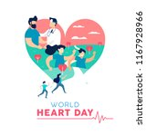 world heart day illustration... | Shutterstock .eps vector #1167928966