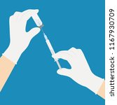 syringe and ampoule with... | Shutterstock .eps vector #1167930709
