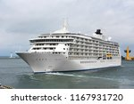 cruise tourist ship mooring in... | Shutterstock . vector #1167931720