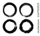 vector grunge circles.grunge... | Shutterstock .eps vector #1167933529