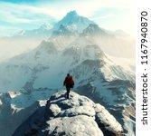 conceptual image of a man hiker ... | Shutterstock . vector #1167940870