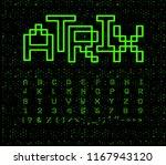matrix font  geometrical lines. ... | Shutterstock .eps vector #1167943120
