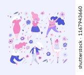 vector illustration   group of... | Shutterstock .eps vector #1167943660