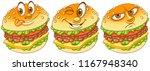 burger. hamburger. cheeseburger.... | Shutterstock .eps vector #1167948340