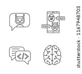 chatbots linear icons set. thin ...   Shutterstock .eps vector #1167948703